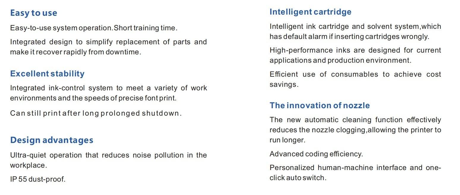 Lead Tech Lt710 Dole Can Coding Cij Inkjet Printer