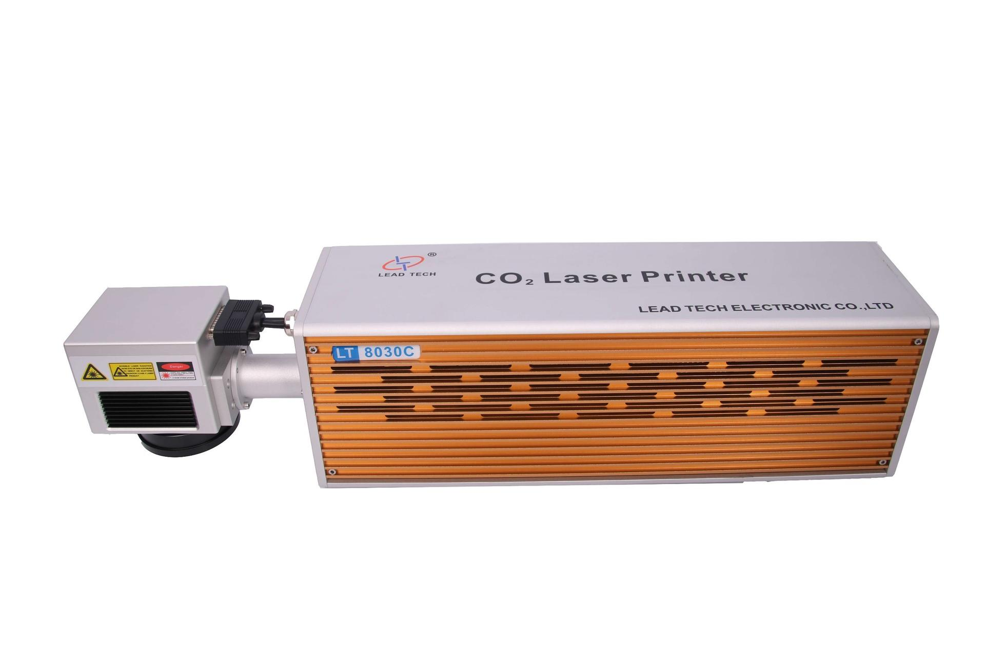 Lead Tech Lt8020c/Lt8030c CO2 20W/30W High Precision Digital Laser Engraving Marking Printer for Cans/Bottles