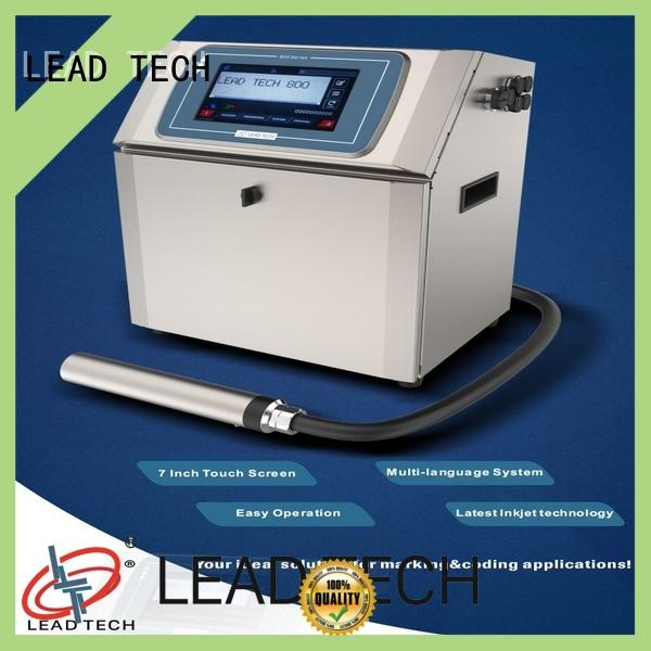 LEAD TECH jet printing machine high-performance for beverage industry printing
