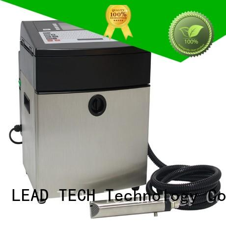 LEAD TECH continuous inkjet printer india easy-operated for tobacco industry printing
