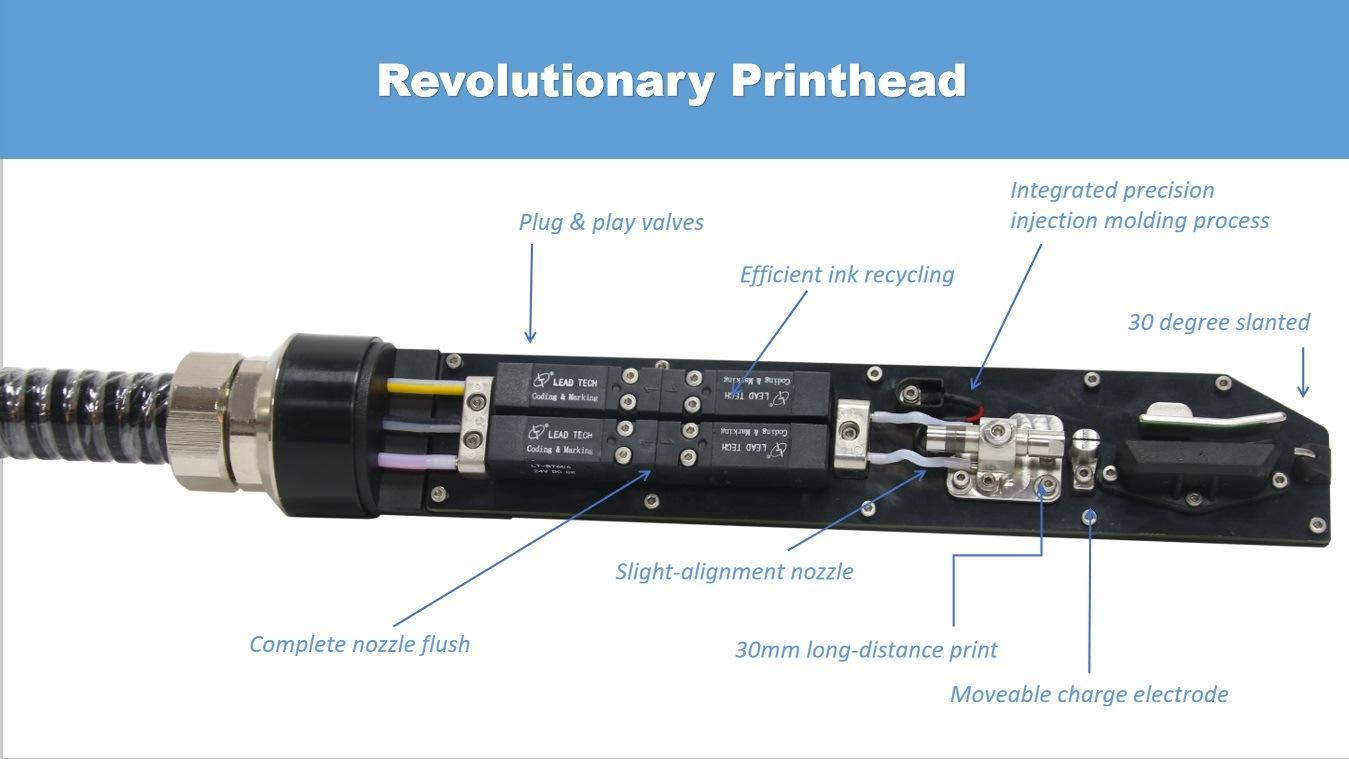 Lead Tech Lt760 Dole Can Coding Cij Inkjet Printer