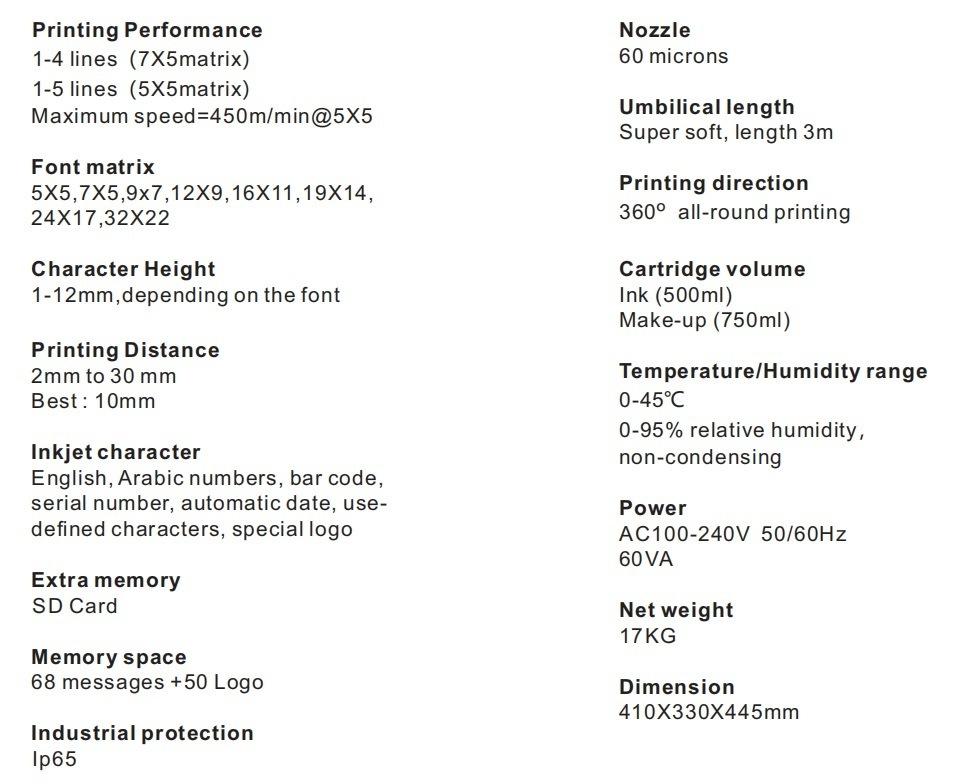 Lead Tech Lt760 Black to Blue Coding Cij Inkjet Printer