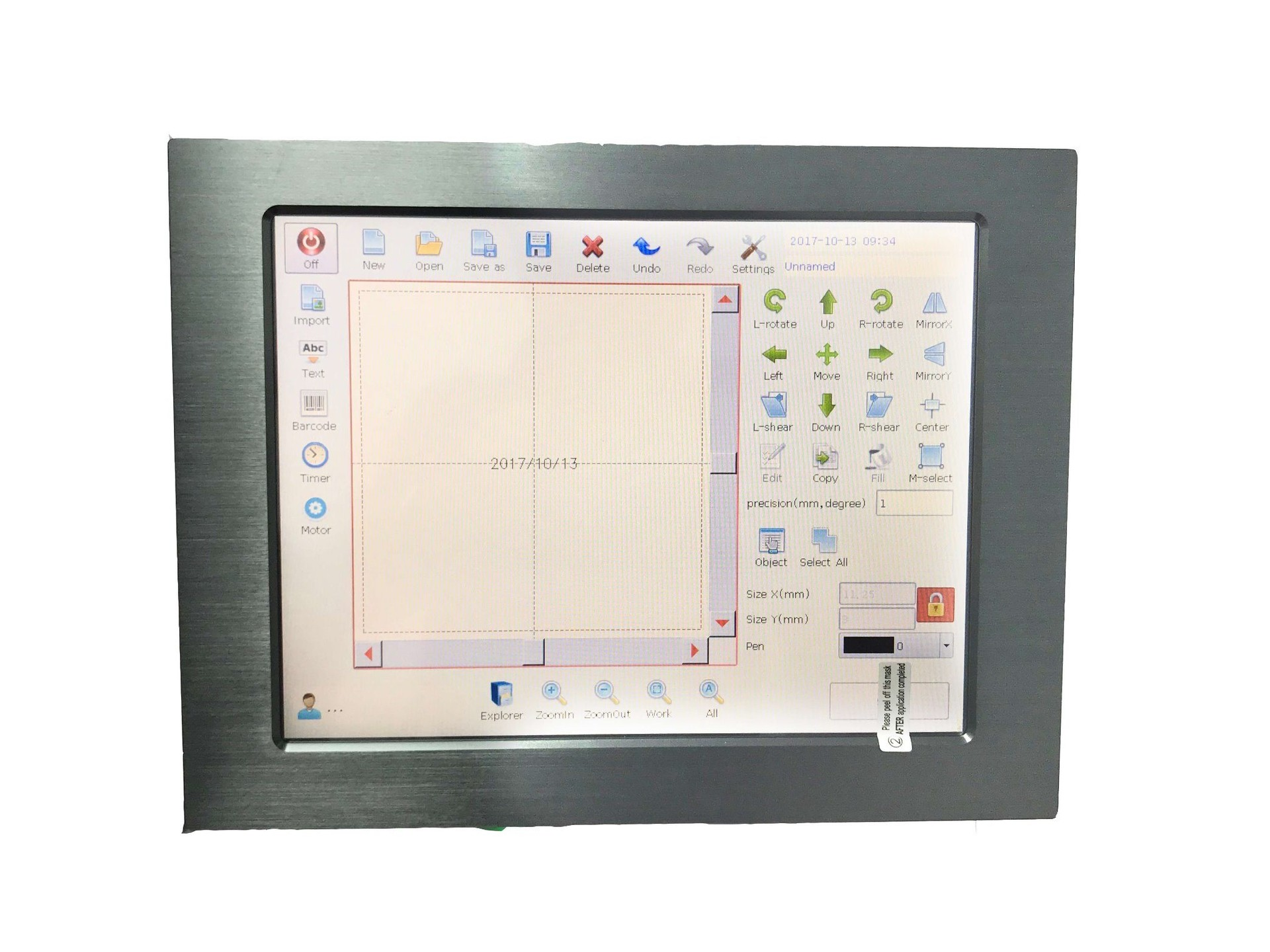 Lt8003u/Lt8005u UV High Speed Qr Code Date Character Laser Printer for Cables and Pipes
