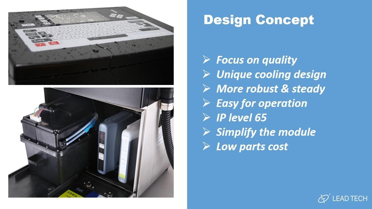 Lead Tech Lt760 Reverse Printing Cij Inkjet Printer