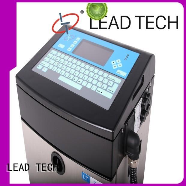 LEAD TECH bulk travel inkjet printer high-performance for beverage industry printing