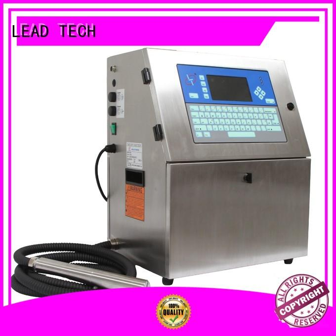 LEAD TECH cheapest continuous ink printer fast-speed for daily chemical industry printing