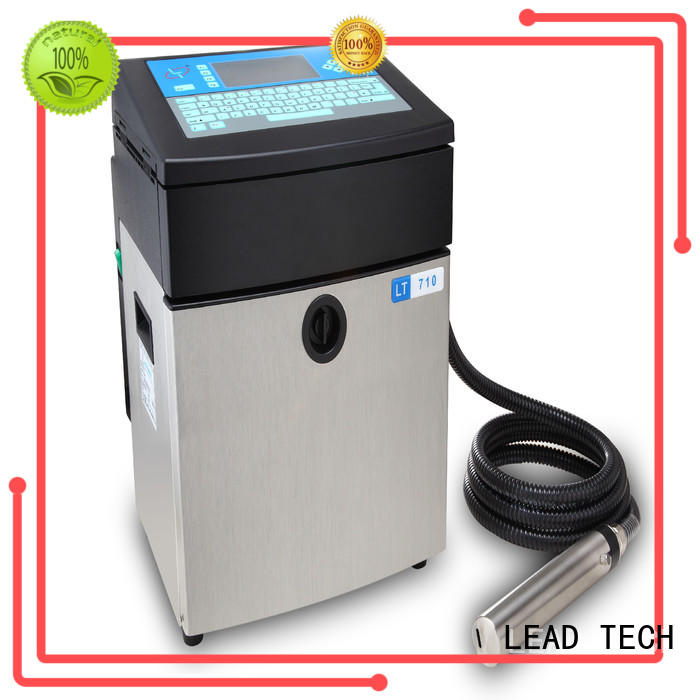 LEAD TECH Latest continuous inkjet printer good heat dissipation for daily chemical industry printing