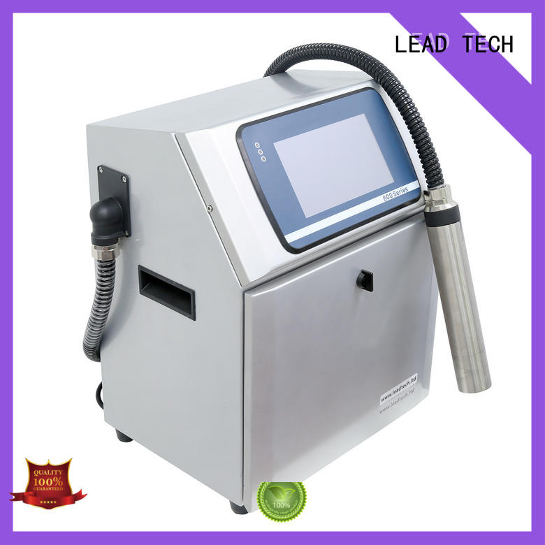 LEAD TECH commercial waterproof inkjet printer high-performance for pipe printing