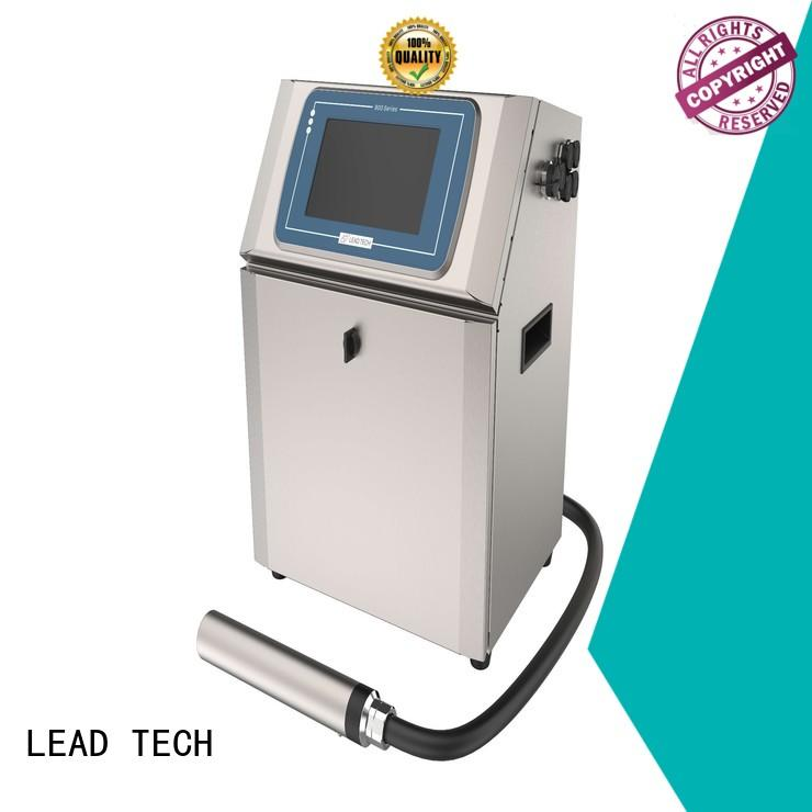 LEAD TECH epson continuous ink printer price good heat dissipation for beverage industry printing
