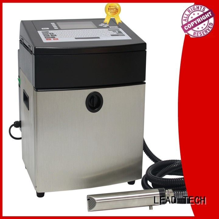 LEAD TECH continuous ink printer factory for daily chemical industry printing