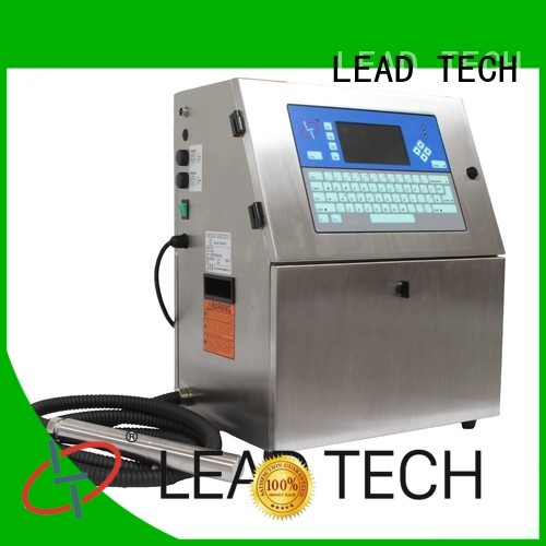 LEAD TECH inkjet date coder machine good heat dissipation for daily chemical industry printing