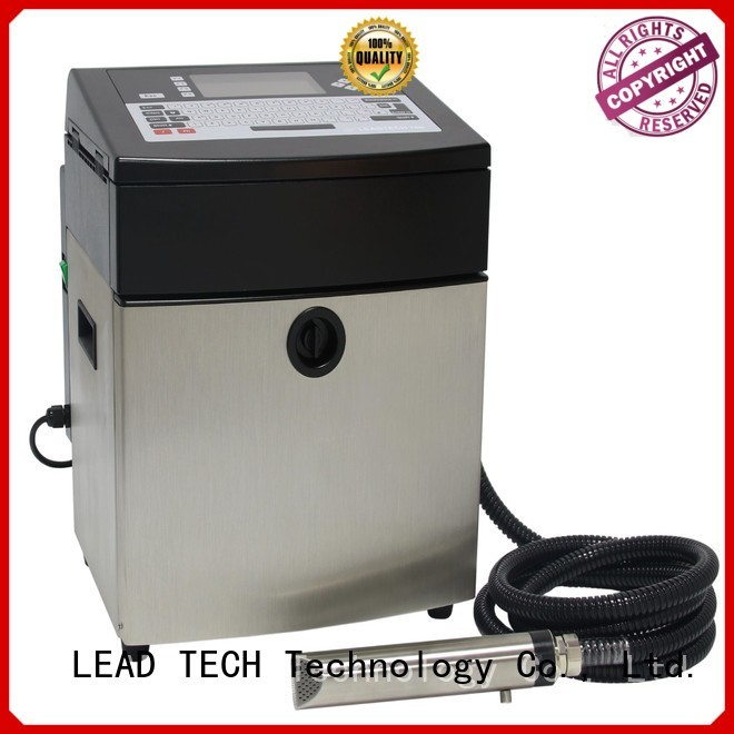 LEAD TECH continuous ink printer price for food industry printing