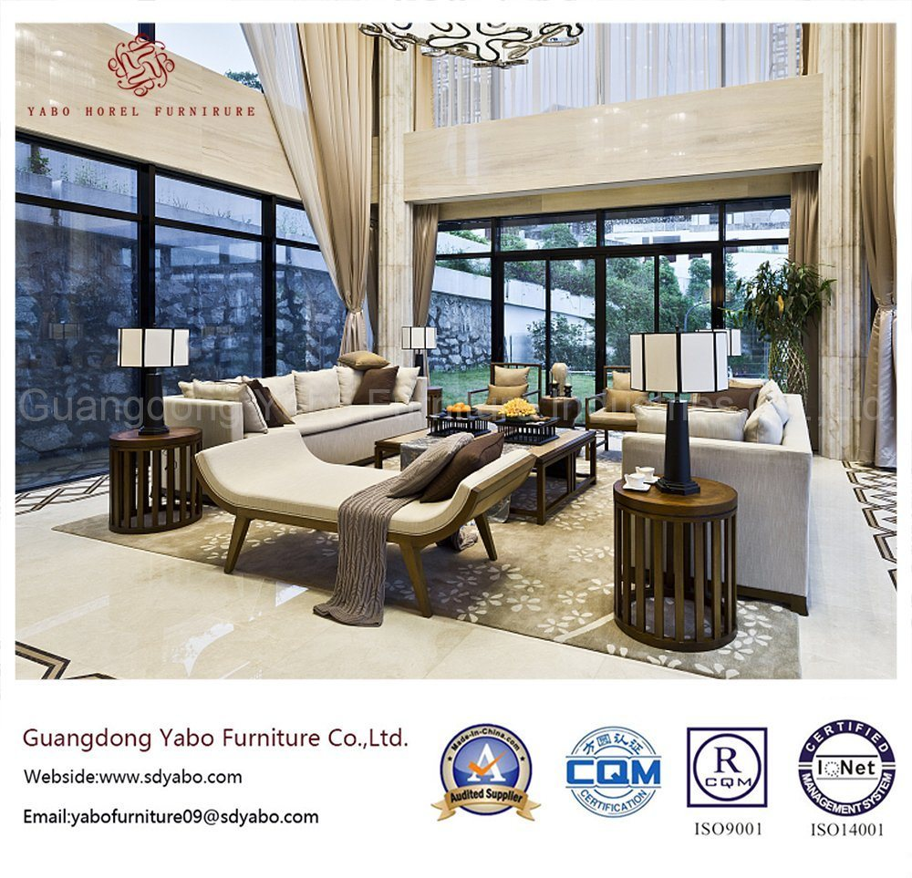 Solid Wood Hotel Furniture with Living Room Sofa Set (YB-C330)