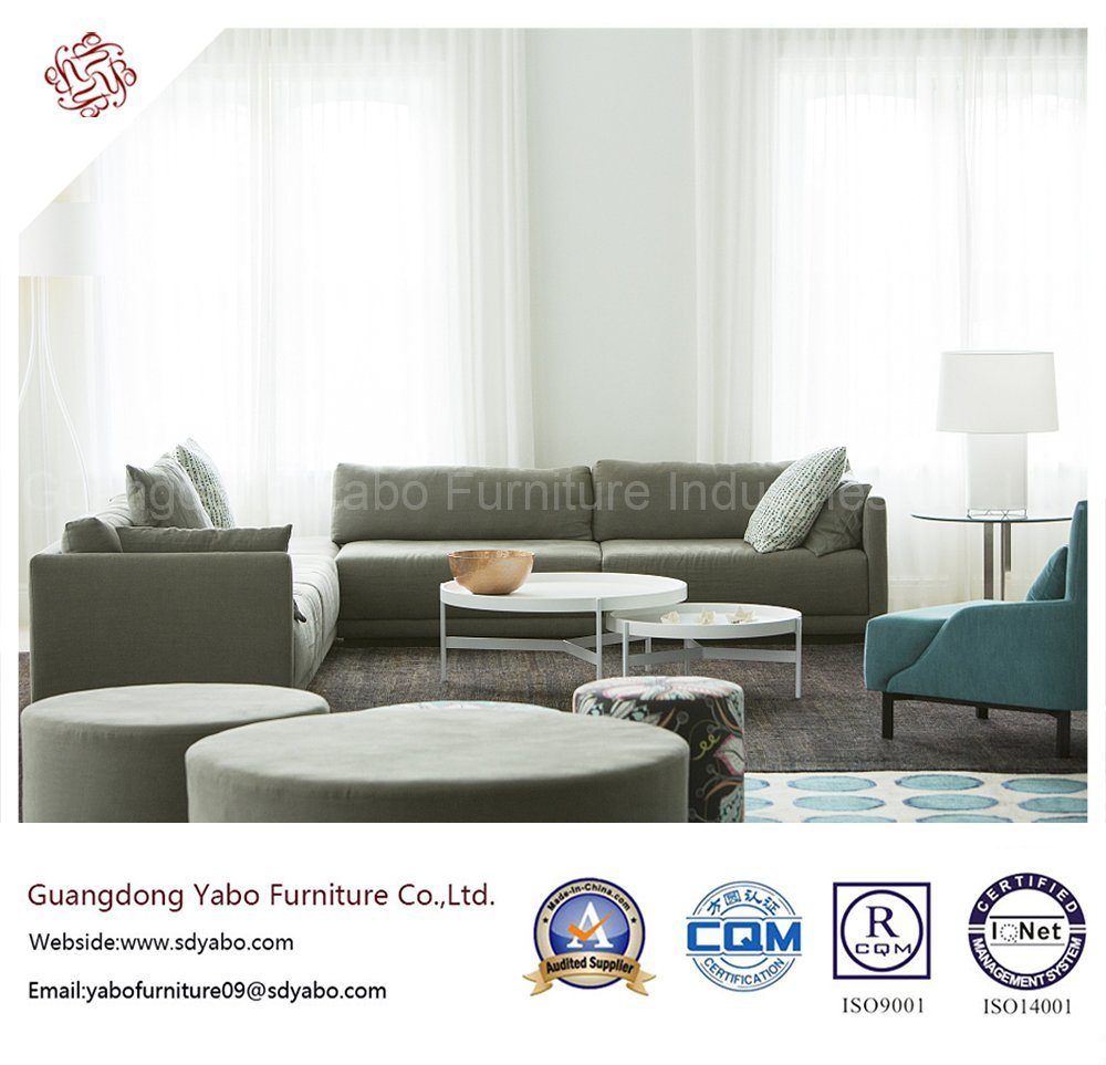 Solid Wood Hotel Furniture with Living Room Sofa Set (YB-C306)