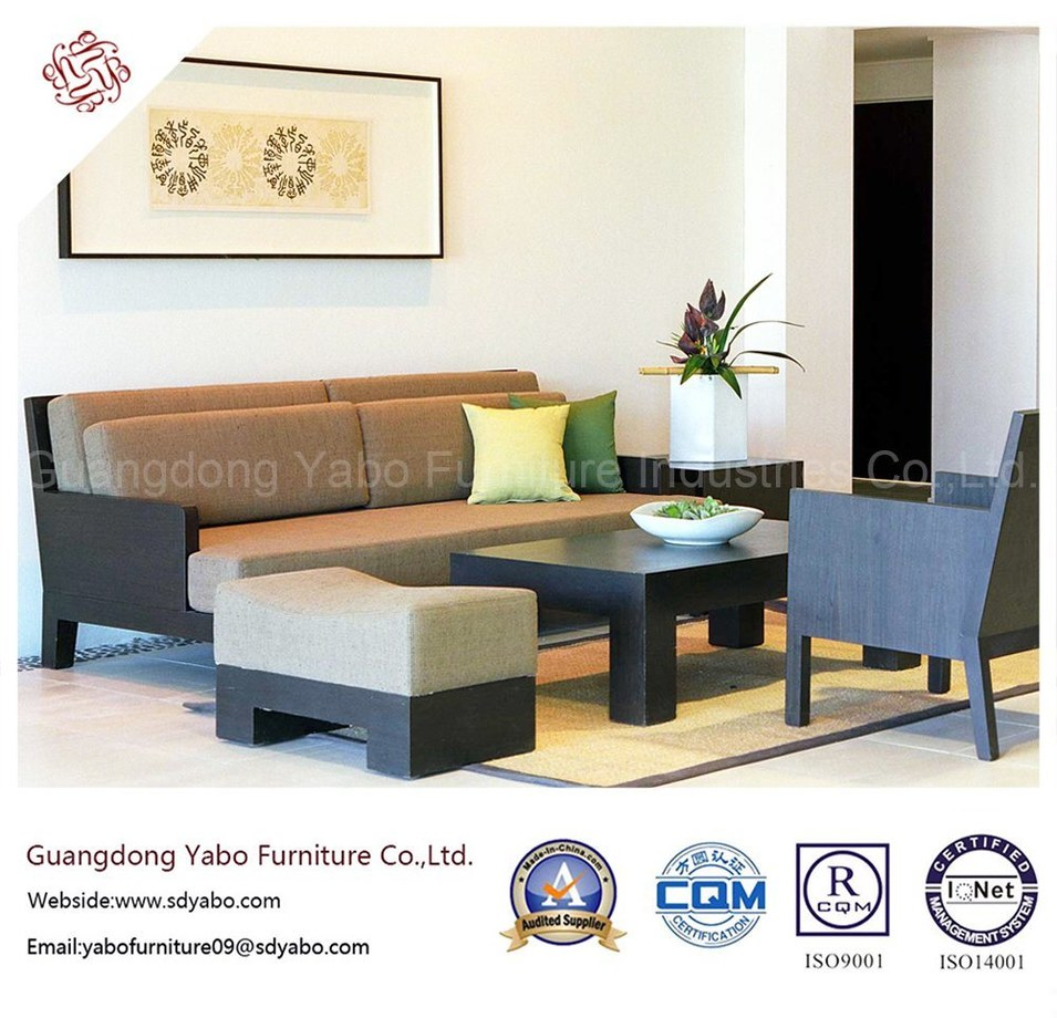 Contemporary Hotel Bedroom Furniture with Living Room Sofa Set (YB-H-9)