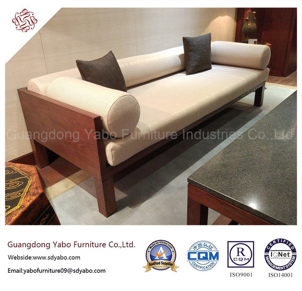 Chinese Hotel Furniture with Wooden Fabric Three Sofas (YB-O-12)