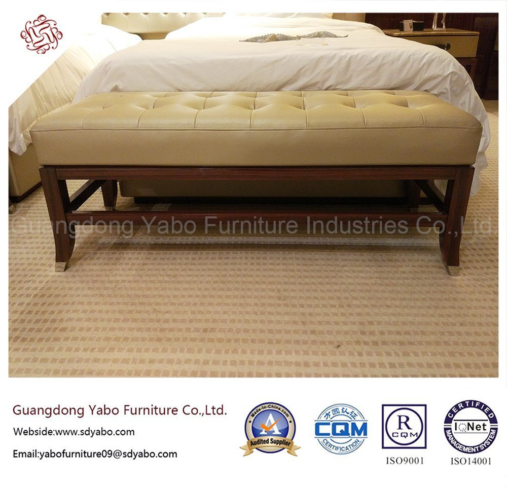 Custom-Made Modernistic Hotel Furniture with Leather Bed Bench (YB-F-2656)