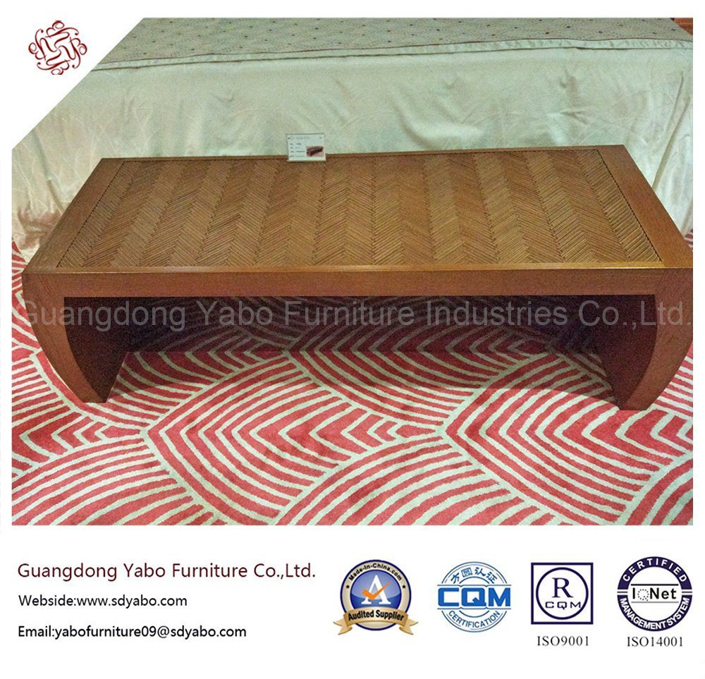 Simple Hotel Bedroom Furniture with Wooden Bed Bench (YB-E-1)