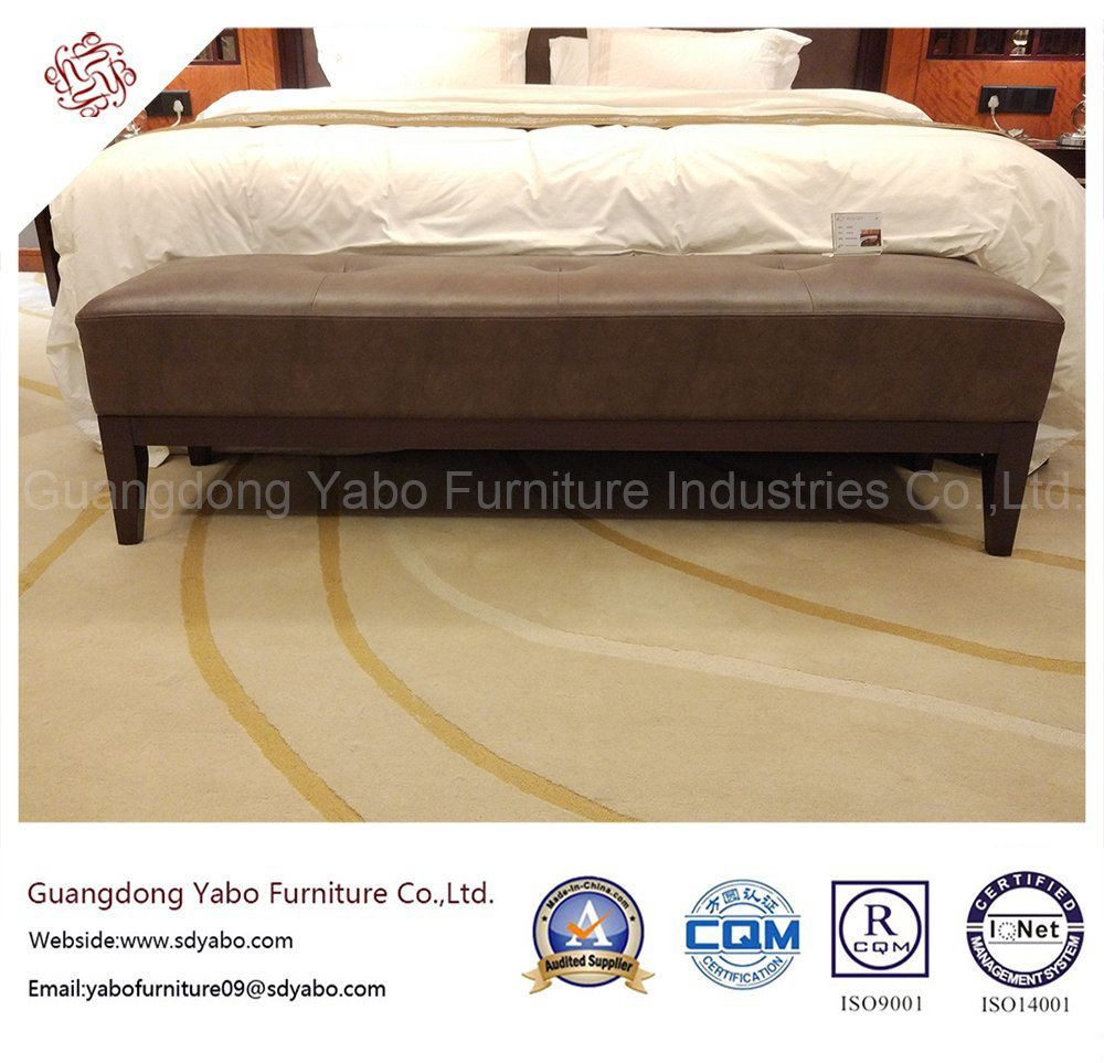 Elegant Hotel Bedroom Furniture with Leather Bed Bench (YB-E-20)