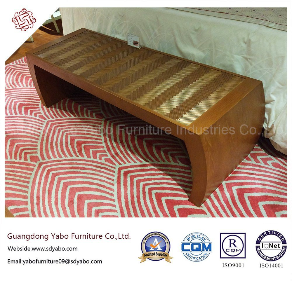 Commerical Hotel Furniture with Teak Bed Bench (YB-O-25)