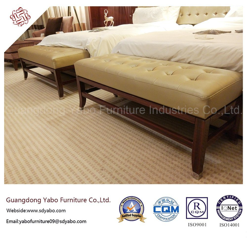 Thrifty Hotel Furniture with Leather Bedroom Bed Bench (YB-O-14)