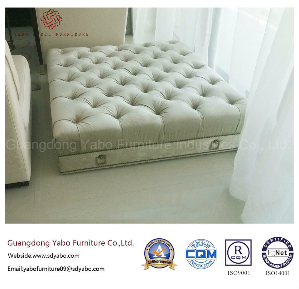 5 Star Hotel Furniture for Square Leisure Sofa Ottoman (6312O-1)