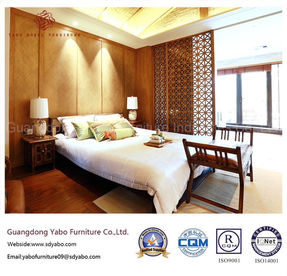 Good Quality Hotel Bedroom Furniture with Wooden Bed (YB-WS-61)