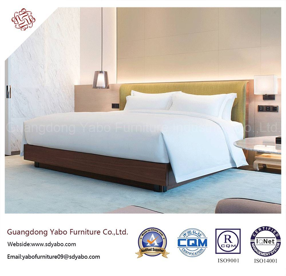 Substantial Hotel Furniture with Wooden Bedroom Bed (YB-GN-8)