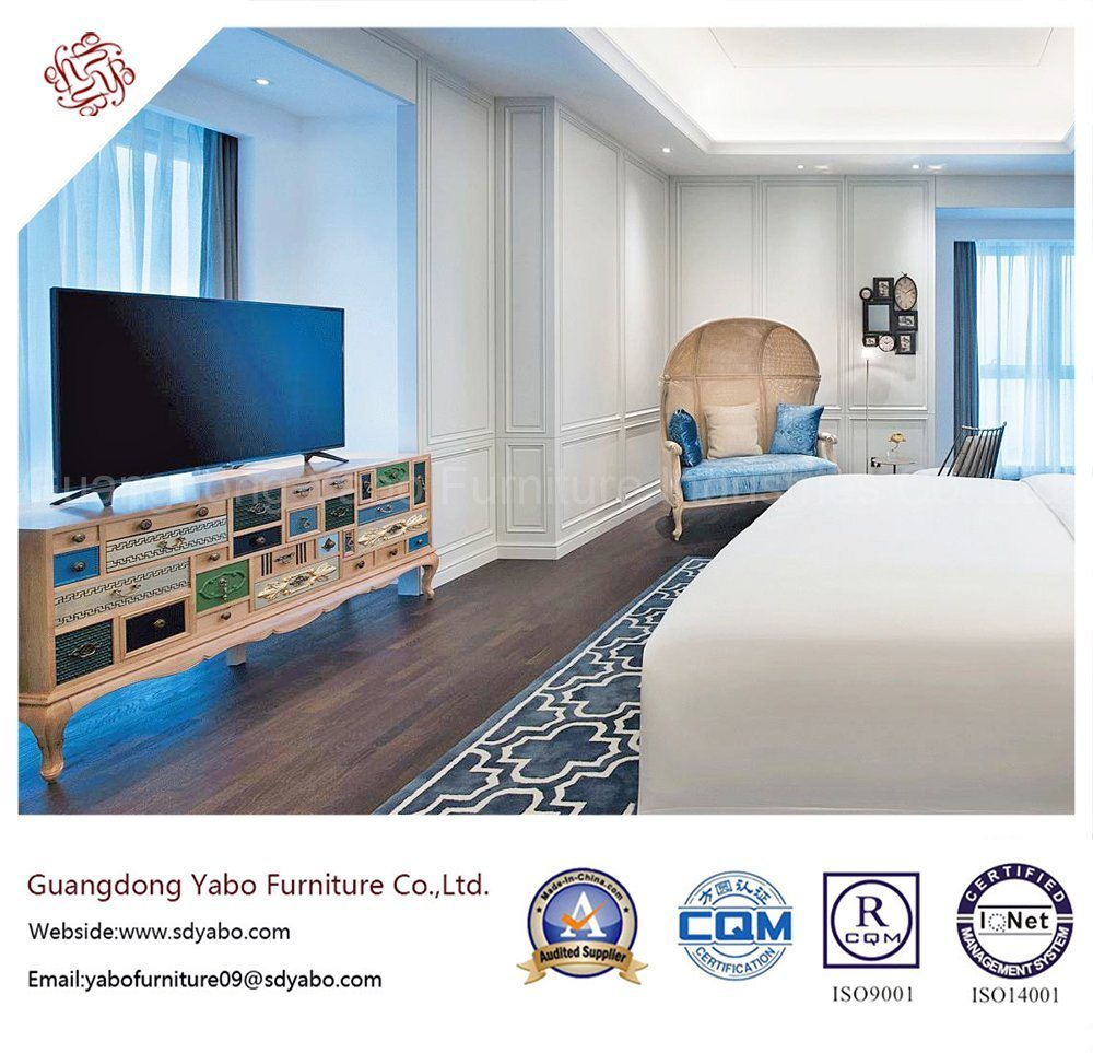 Commercial Hotel Bedroom Furniture with Wooden Bed (YB-GN-9)