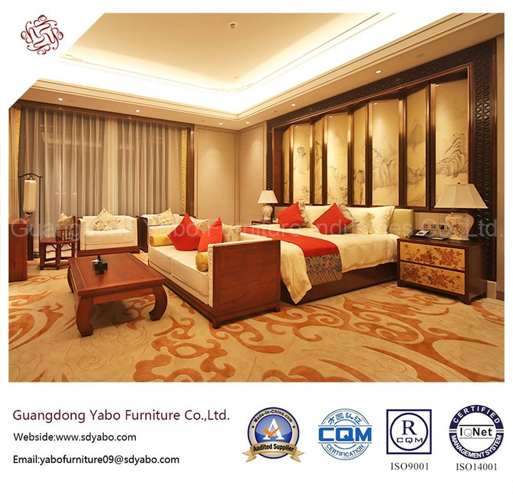 Commerical Hotel Furniture with Chinese Style Wooden Bed (YB-GN-10)