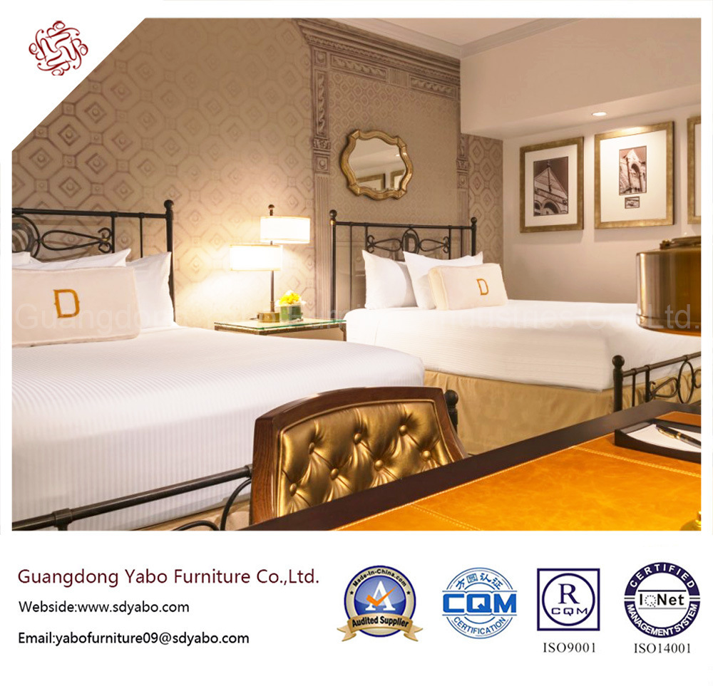 Splendid Hotel Furniture with Bedroom Wooden Bed (YB-P-4)