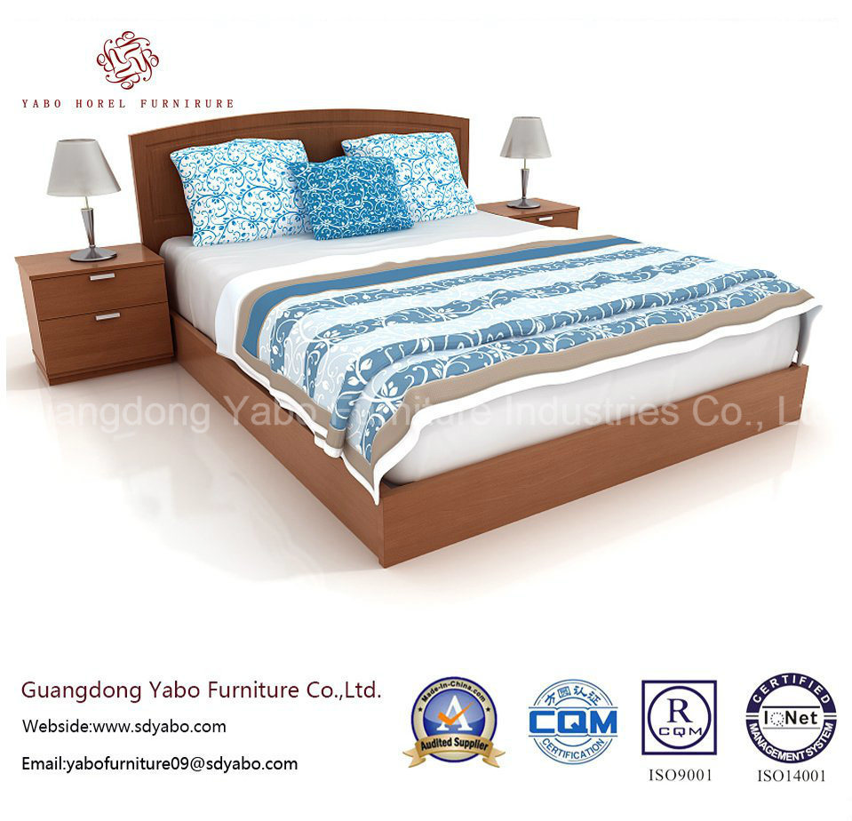 Superior Hotel Bedroom Bed with Bedside Cabinet (YB-WS-62)