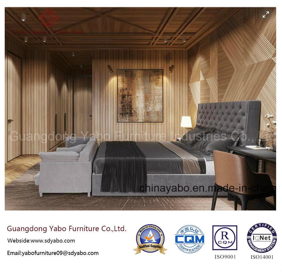 Dark Color Hotel Bedroom Furniture with Wood Furnishing Set (YB-WS21-1)