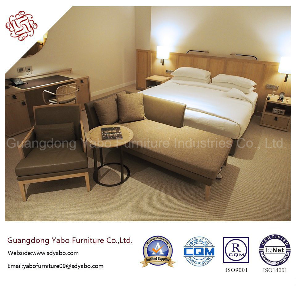 Modern Hotel Bedroom Furniture with Wooden Armchair (YB-S-16)
