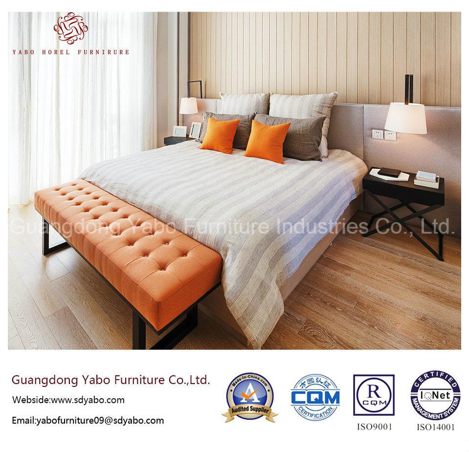 Orange Color Hotel Bedroom Furniture with Delicate Design (YB-S-11)