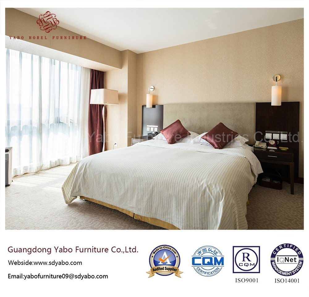 Simple Hotel Bedroom Furniture with Wooden Headboard (YB-WS-54)