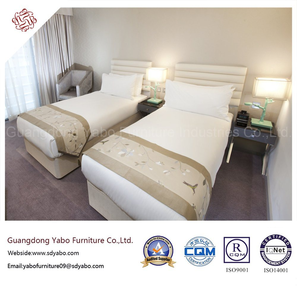 Chinese Foshan Hotel Bedroom Furniture with Wooden Twin Bed (YB-D-36)