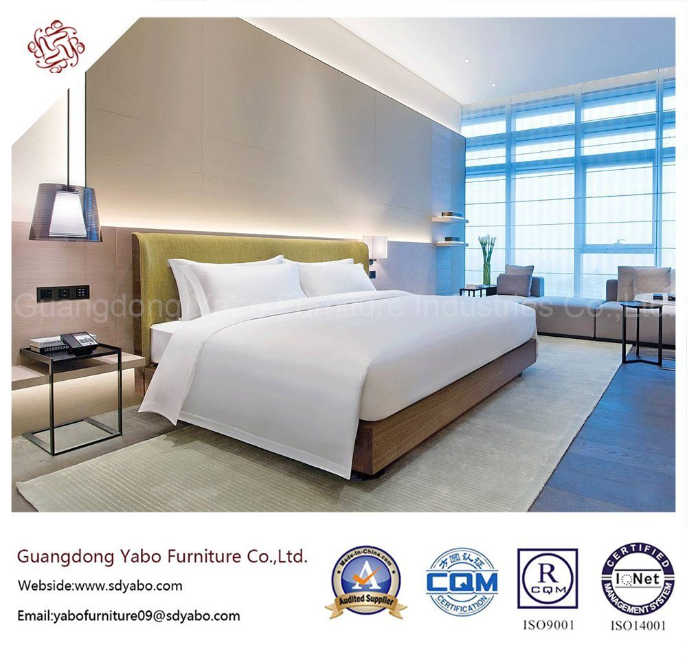 Concise Hotel Bedroom Furniture with Fabric Sofa Bed (YB-GN-3)