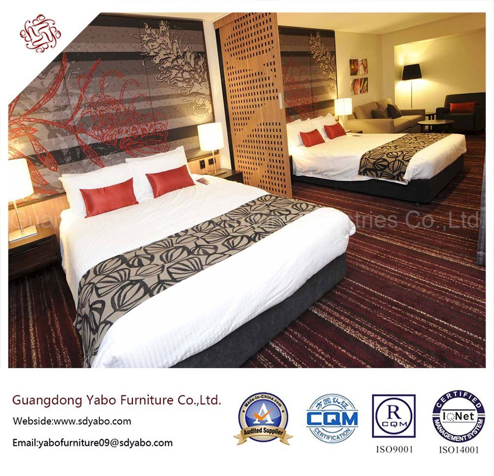 Excellent Hotel Bedroom Furniture with Wooden Double Bed (YB-H-2)