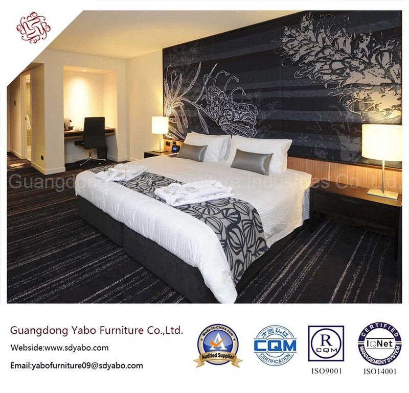Luxurious Hotel Bedroom Furniture with Wooden Headboard (YB-H-3)