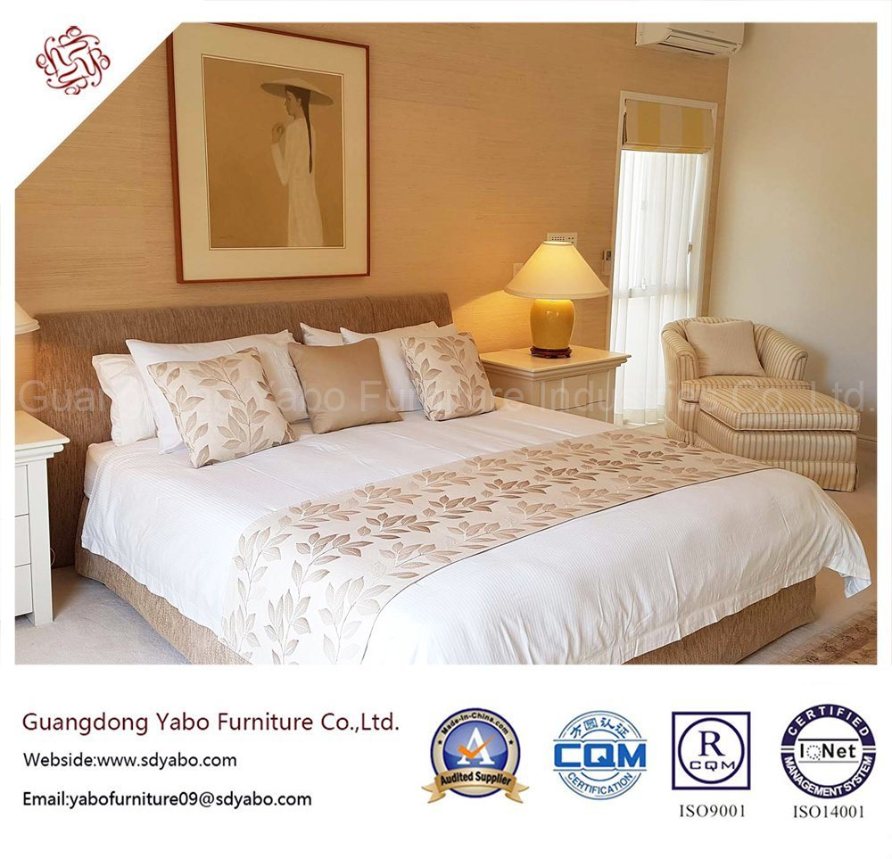 Contemporary Hotel Bedroom Furniture with Fabric Headboard (YB-H-5)