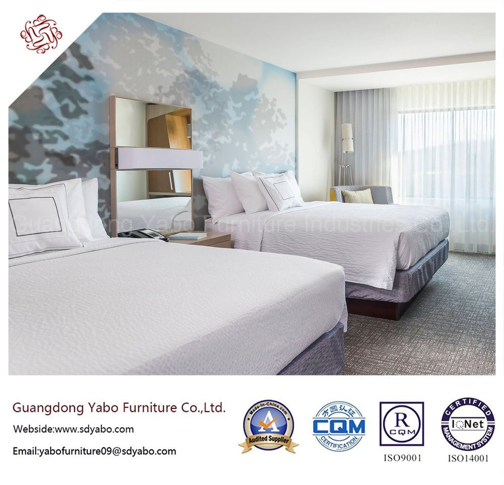 Excellent Hotel Bedroom Furniture with Luxurious Bedding Set (YB-O-90)