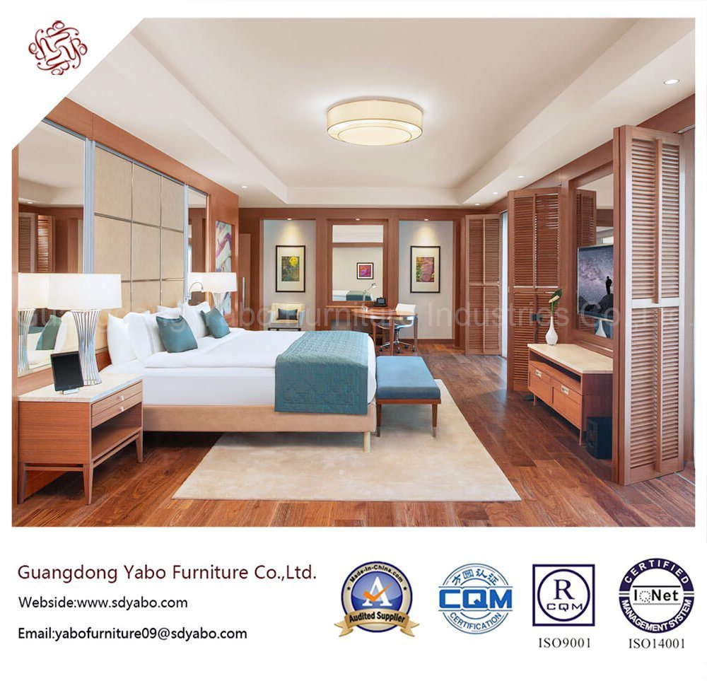 Solid Wood Hotel Bedroom Furniture with Sea-View King Room (YB-S-17)