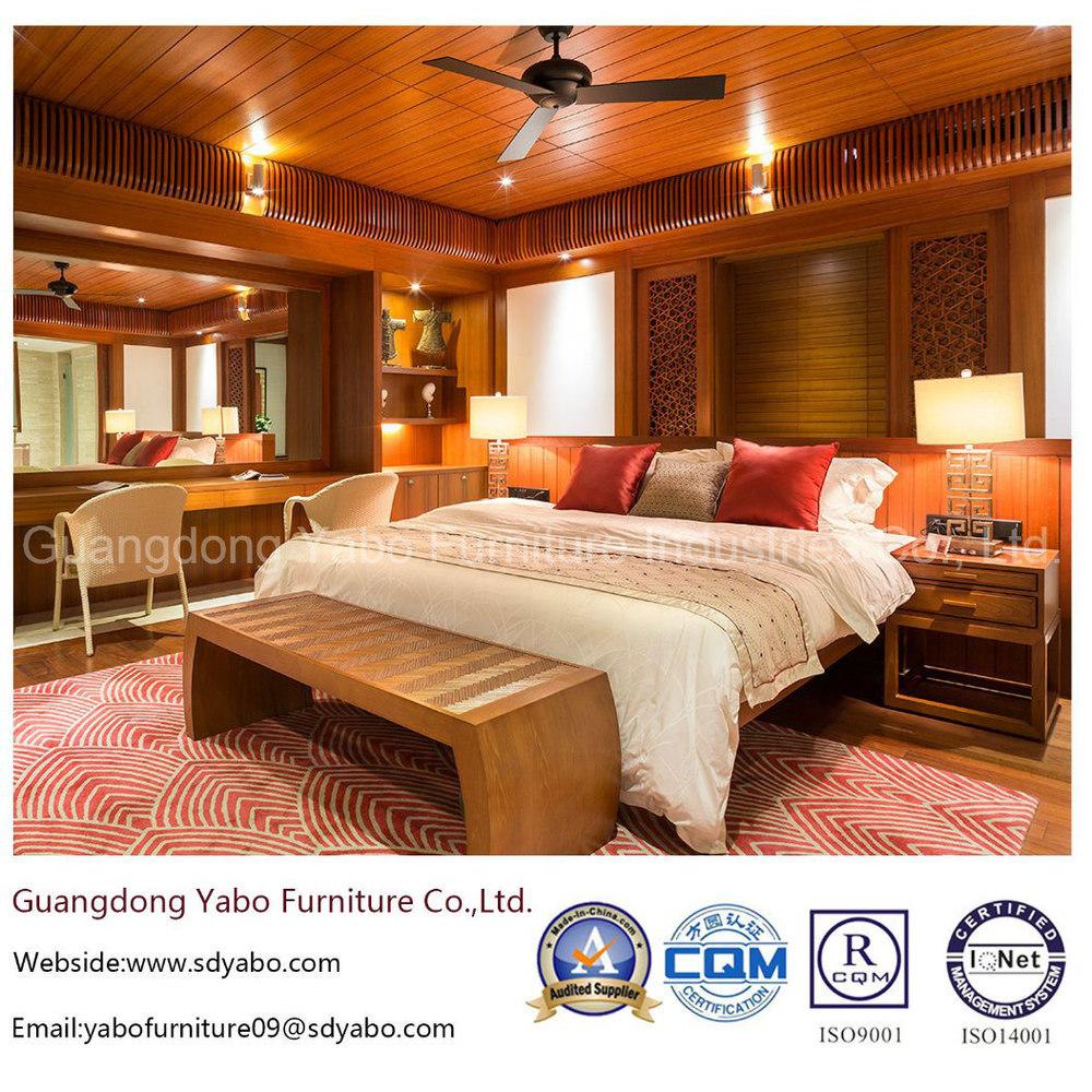 Modern Hotel Bedroom Furniture Set with Teak Furnishing Set (YB-S811-1)