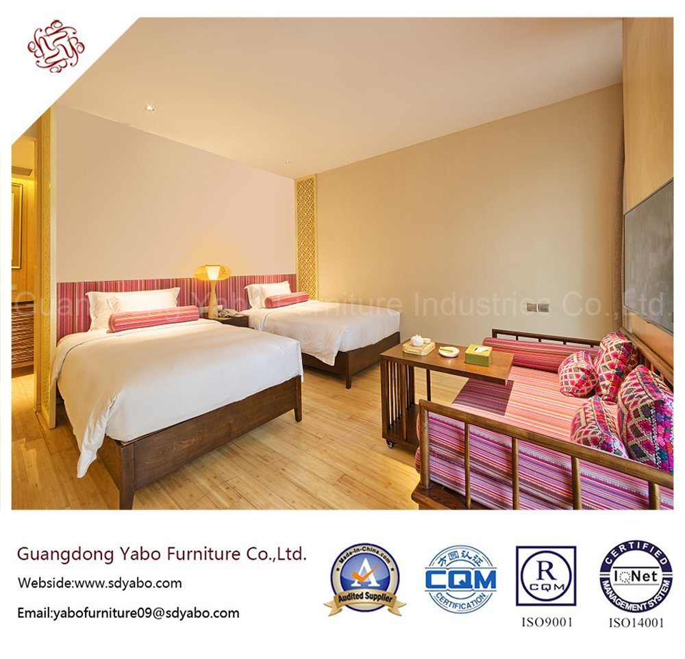 Original Hotel Furniture with Bedroom Double Bed (YB-O-51)