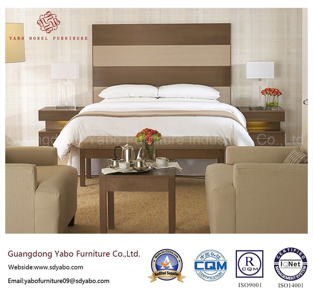 Wooden Hotel Furniture with Concise Bedroom Set (YB-O-59)