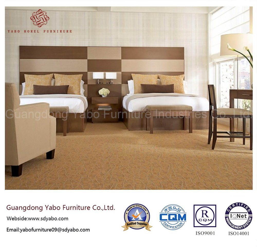 Durable Hotel Furniture with Wooden Bedroom Set (YB-O-60)