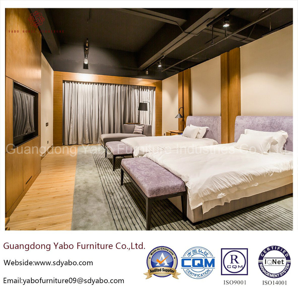 Contemporary Bamboo Hotel Bedroom Furniture with Double Bed (YB-O-76)