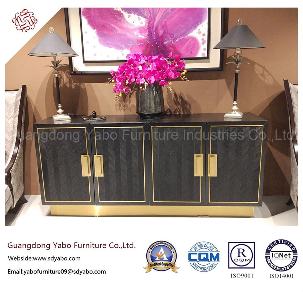 Delicate Hotel Furniture for Living Room with Console Cabinet (3674)