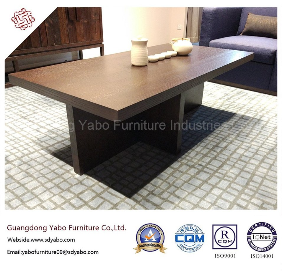 Durable Hotel Furniture with Lobby Wooden Coffee Table (YB-W11-1)